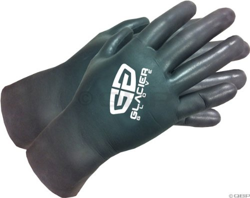 Glacier Glove Super G Cycling Glove Black LG