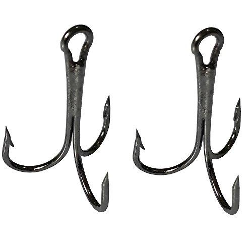 Luengo 50pcs Fishing Hooks Treble Hook High Carbon Steel Treble Hooks Super Sharp Solid Triple Barbed Fish Hook 3551