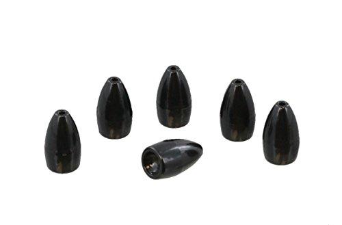 Bulk 6 Pack - 1 Oz Top Brass Tungsten Polished Flipping Worm Weight  Sinker - Flippin Style - Wholesale Discount