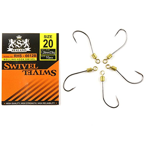 Price per 40 packs Fishing Swivels TUYQ0 Rolling with Hook 20 Terminal Sea Tackle Coastlock Accessories Suppliers