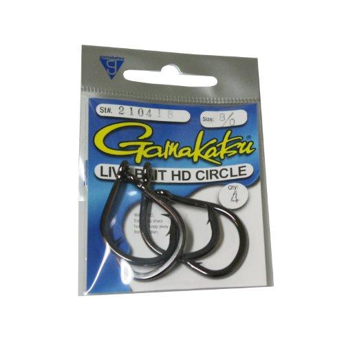 Gamakatsu Circle Bait Hook-3 Per Pack Black 100