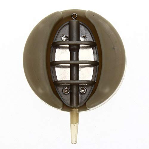 Ponis-Limos - 4pcs Sets Carp Fishing Feeder Tool Inline Method Feeder with Mould Carp Lead Sinker Free Lead 15g 20g 25g 35g