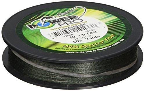 Power Pro 33400500500E Maxcuatro Braided Fishing Line 50 lb500 yd Moss Green