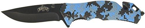 Master USA MU-A001DB Spring Assist Folding Knife Black Blade Digital Blue Camo Handle 4-12-Inch Closed
