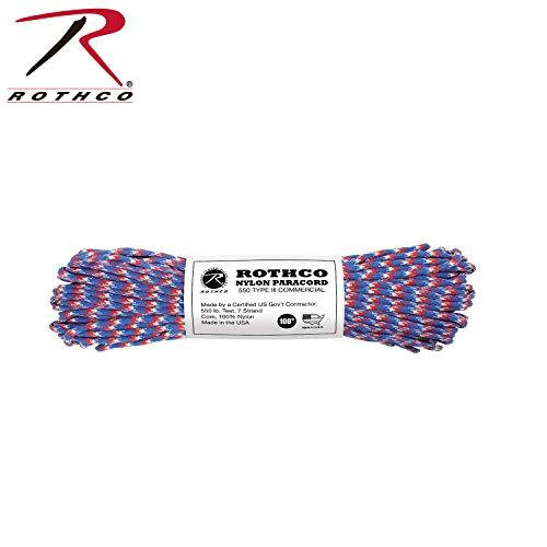 Rothco Nylon Paracord 100 RedWhiteBlue Camo