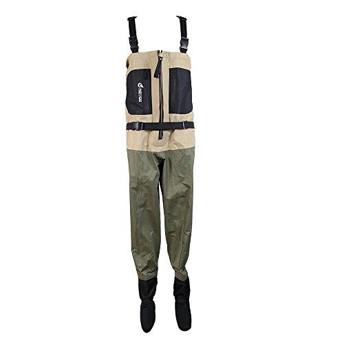 Neygu Waterproof Stocking Foot Wader Mens breathable chest fishing waders XXXL