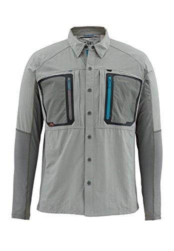 Simms Taimen TriComp LS Shirt Smoke Medium