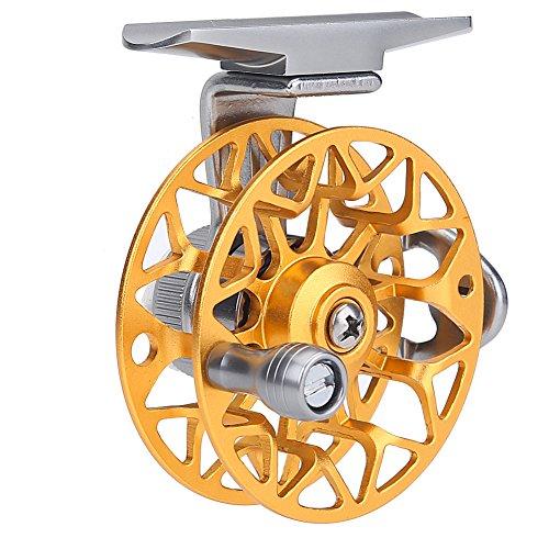 11 Fly Fish Reel Full Metal Ultra-light Ice Fishing Vessel Wheel for Ourdoor FishingGold