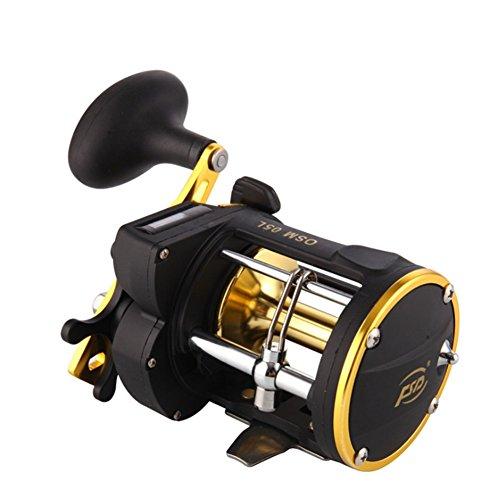Cyndie Counter Alarm Bell Spinning Reel Drum Fishing Vessel Trolling Boat Plate Baitcast Wheel