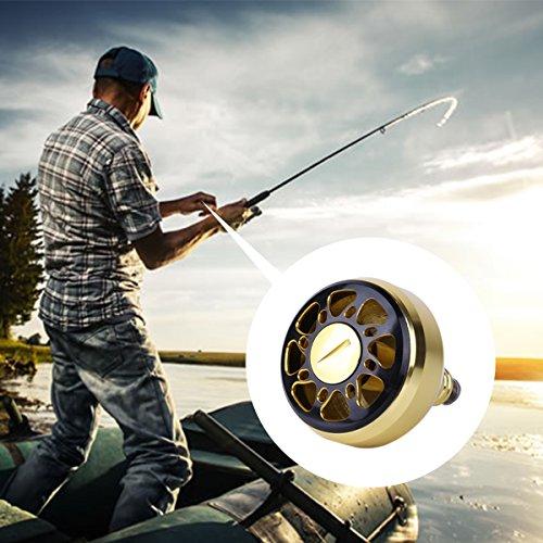iixpin Replacement Power Handle Ball Knob Full Metal Saltwater Spinning Fishing Reel Fishing Vessel Knob Gold