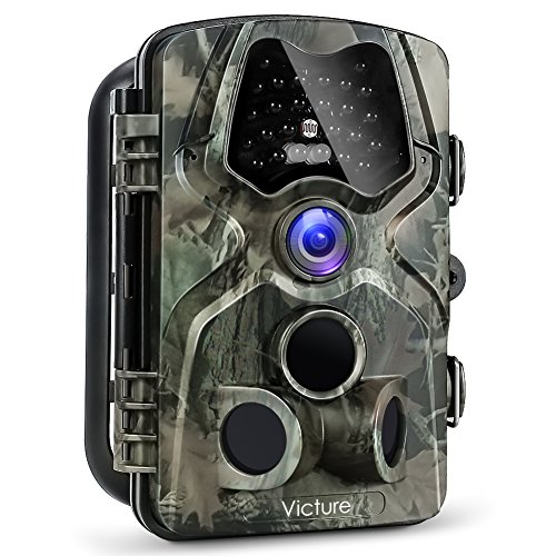 Victure Trail Game Camera 1080P 12MP Wildlife Hunting Camera with 120 ° Wide Angle 20m Night Vision Infrared IP66 Waterproof Design 24 LCD Display for Wildlife Surveillance and Home Security