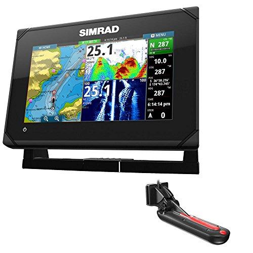 Simrad GO7 XSE ChartplotterFishfinder wTotalScan Transom Mount Transducer