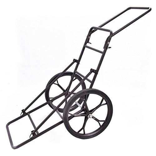 Goplus 500LB Folding Deer Game Cart Larger Capacity Hauler Utility Gear Dolly Cart Hunting Accessories
