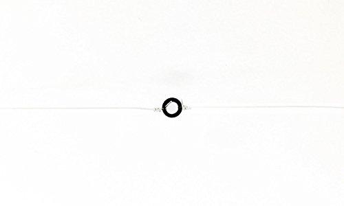40 Tippet Rings Tippet Rings Refills - 15 or 2mm Black - 40 Tippet Rings