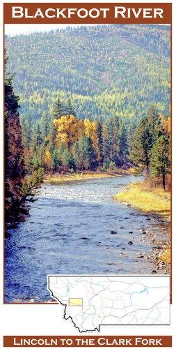 Blackfoot River 11x17 Fly Fishing Map