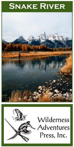 Snake River Wyoming 11x17 Fly Fishing Map