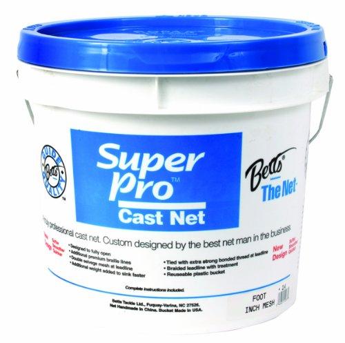 Betts Super Heavy Super Pro 12-Foot Mono Cast Net with 34-Inch Mesh