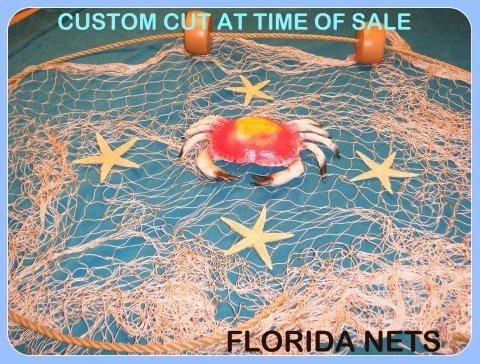 15 X 9 Fishing Net Netting Nautical Display with Crab Starfish Rope and Floats