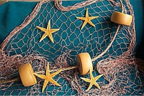 15 X 9 TAN Fish Fishing Net Netting Floats Rope 4 Starfish