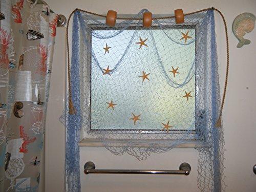 6 X 9 Decorative Fishing Net Netting Display Rope Starfish Window Curtains