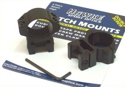Hawke Sport Optics 22117 Riflescope Rings - Weaver 30mm High 2 pc Black