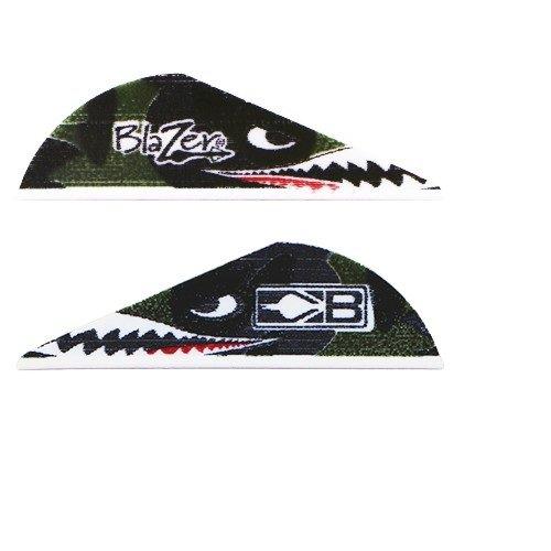 Blazer Arrow Vanes Bohning Flying Tiger Shark wLogo Pkg36