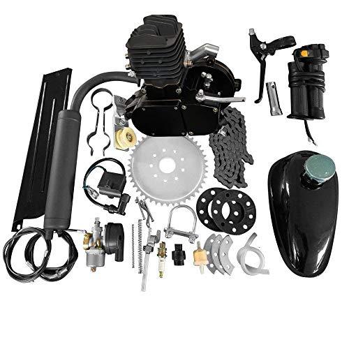 MOTOOS 80CC 26 28 Bike Bicycle Motorized 2 Stroke Cycle Petrol Gas Engine Kit Set Black