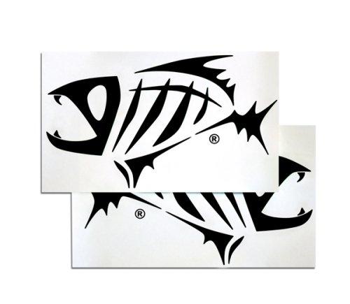 G loomis Black Skeleton Fish Boat Decal Set
