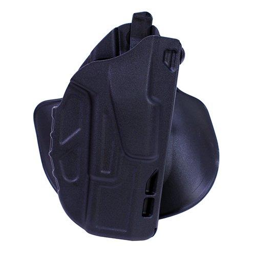 Safariland 7378 7TS ALS Concealment Paddle Belt Slide Holster Glock 19 23 40 Plain Black Right Hand