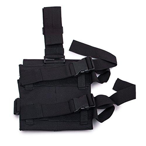 Awaytoy Drop Leg Pistol Holster Gear Tactical Army Gun Thigh Holster Black