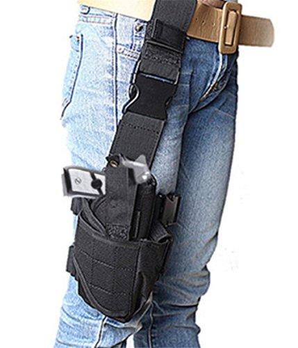 Awaytoy Drop Leg Pistol Holster Gear Tactical Army Gun Thigh Holster for Gun Less than 7820cm Black