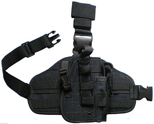 HEAVY DUTY DROP LEG GUN HOLSTER RT HAND PISTOL CASE