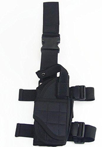 Myheartgoon Tactical Army Multicolor Pistolgun Drop Leg Thigh Holster black