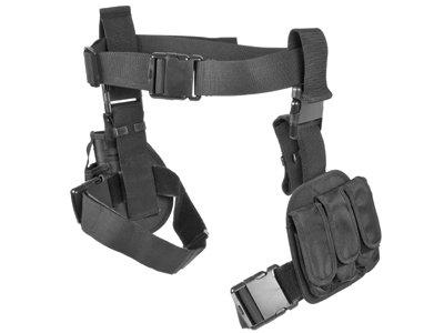 Vism By Ncstar 3pcs Drop Leg Gun Holster And Magazine Holder Black