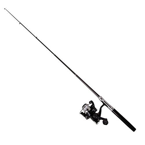 Easydeal Pen Shape Pocket Mini Aluminum Alloy Fishing Rod Pole with Fishing Reel 100M Line Black