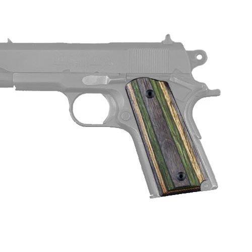 Hogue 43410 Colt 1911 Officers Grips Lamo Camo