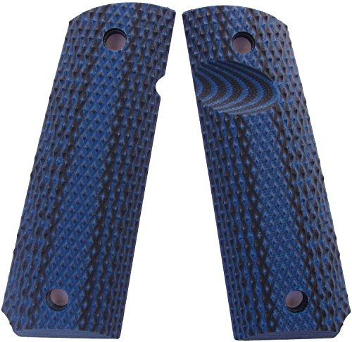 LOK Grips Roughneck Custom 1911 Grips Standard Compact Officer BlueBlack