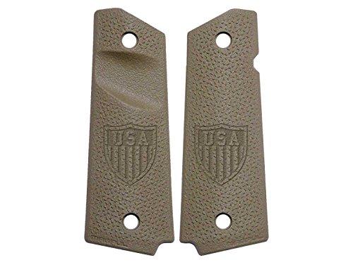 USA Shield Logo Engraved Full Size 1911 Magpul Grip Panels TSP Texture MAG544 FDE FLAT DARK EARTH by NDZ Performance
