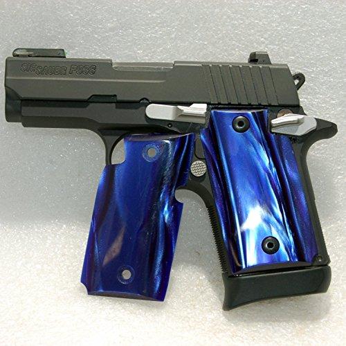 Sig Sauer Gun  Pistol Grips Sig P938 Grips Kirinite Blue Venom