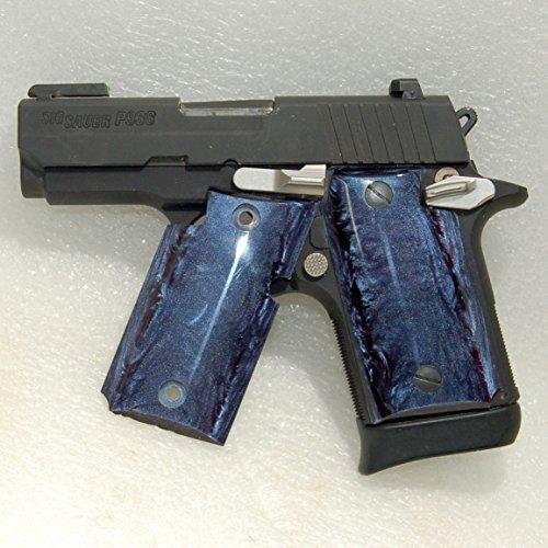 Sig Sauer Gun  Pistol Grips Sig P938 Grips Kirinite Deep Blue Pearl