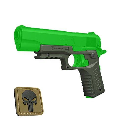 Recover Tactical OD GREEN CC3 Grip and Rail for 1911 style Handgun - Kimber Springfield Ruger Taurus Colt Remington MK Bat Sig Sauer  OD Mini Punicher PVC Patch