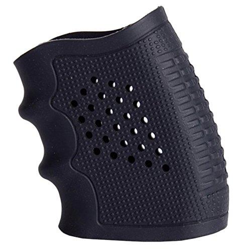 Tactical Grip Glove Sleeve Anti Slip Glove Sleeve Full Size Frames for Handguns Pistols Black