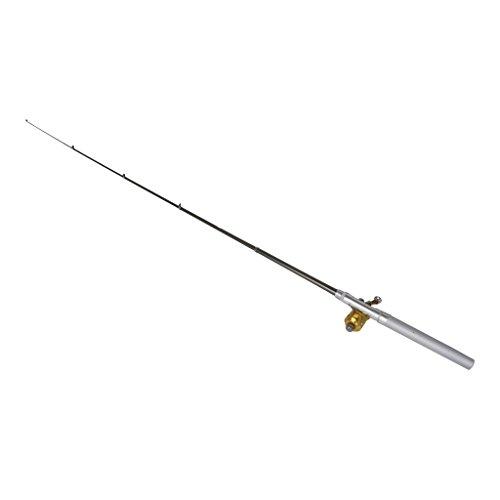 Salesland Pen type fishing rod fishing rod pole mini fishing reel compact rod portable