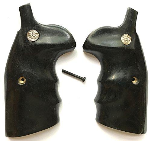 Smith Wesson S&W KLX Frame Grips Round Butt Conversion Black Dymondwood