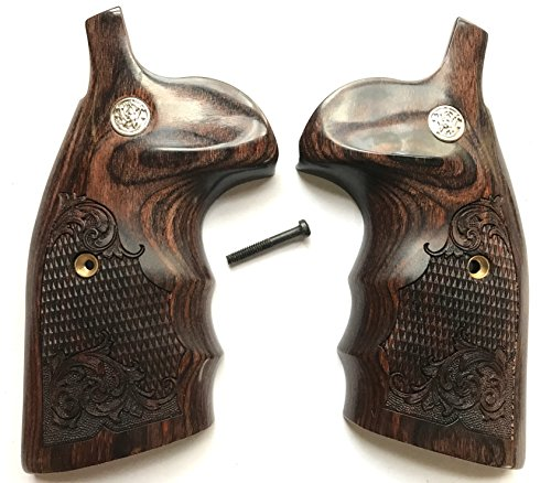 Smith Wesson S&W KLX Frame Grips Walnut with Medallions Round Butt