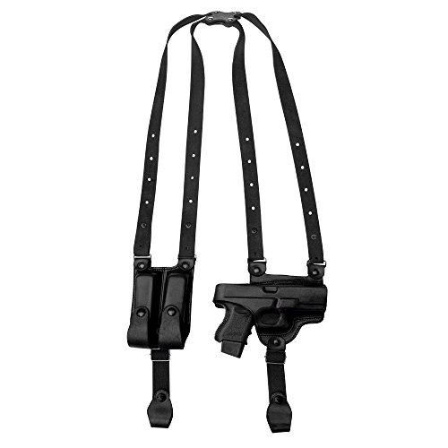 Tagua SH4-940 Full Slide Shoulder Holster S&W L Frame 4 Black Right Hand