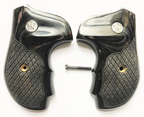 Smith Wesson S&W J Frame Grips Round Butt Silverblack Spanish Diamond Design