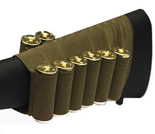 Tan 8 Round Shotgun Ammo Shot Shell Cartridge Hunting Stock Buttstock Slip Over Carrier Holder Fits 12  20 GA Gauge Ambidextrous Mossberg 500590835Maverick 88 Pump Action Sporter