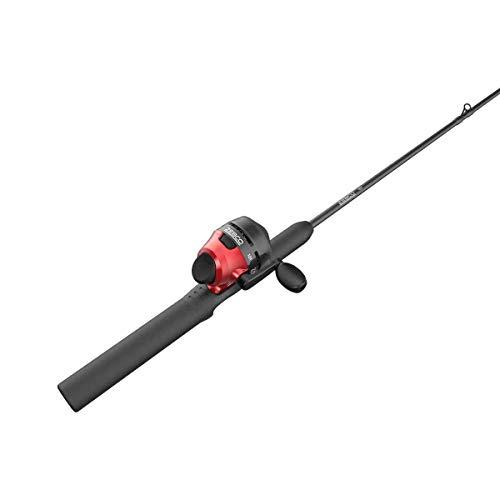 Zebco 101 Spincast Reel and 2-Piece Fishing Rod Combo 5-Foot Fiberglass Rod with EVA Handle