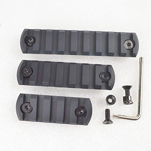 579 slot CNC Aluminum PicatinyWeaver Rail Section for KEYMOD Rail